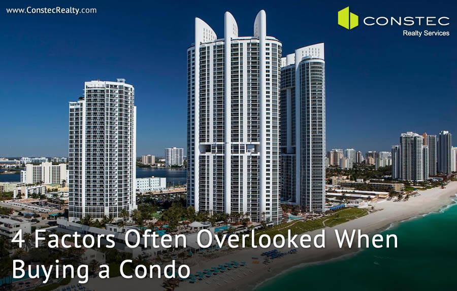 4 Important factors that are often overlooked when buying a condo
