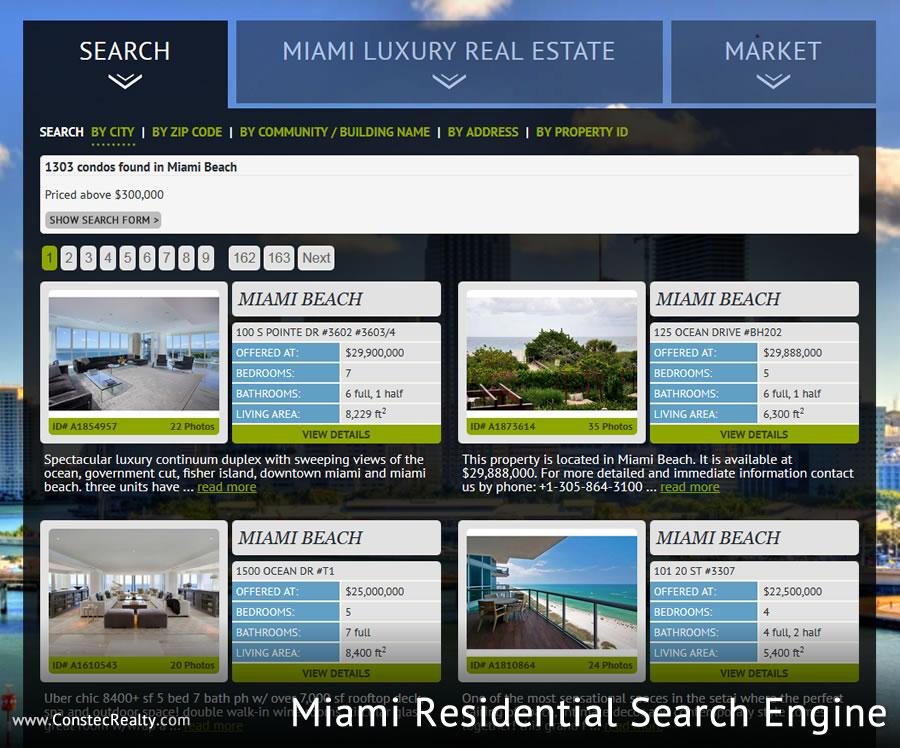 New Miami Real Estate Website
