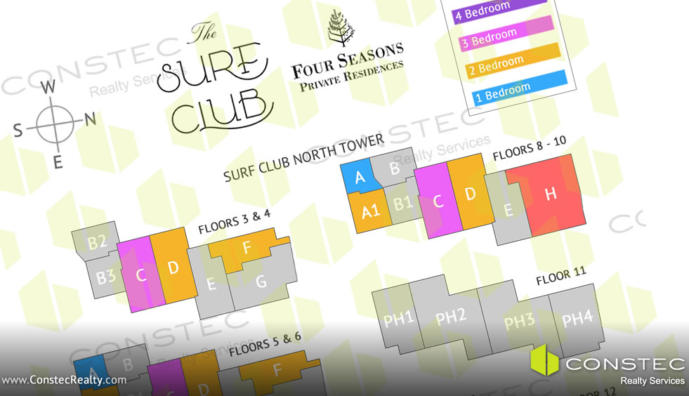 Surf Club Miami Floor Plans and Site Plan
