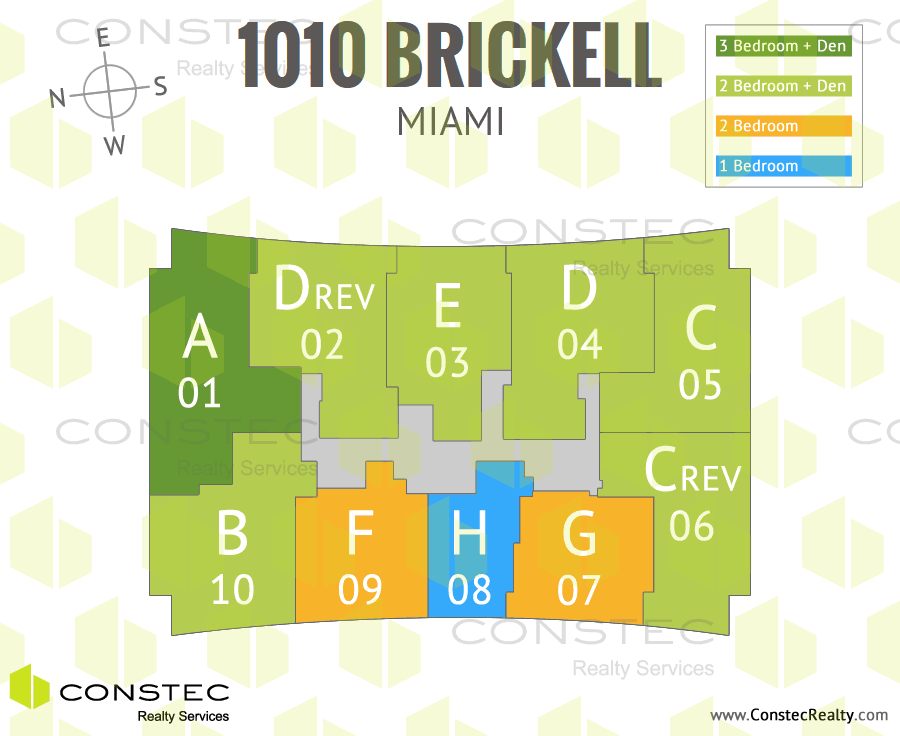 1010 Brickell Site/Key Plan
