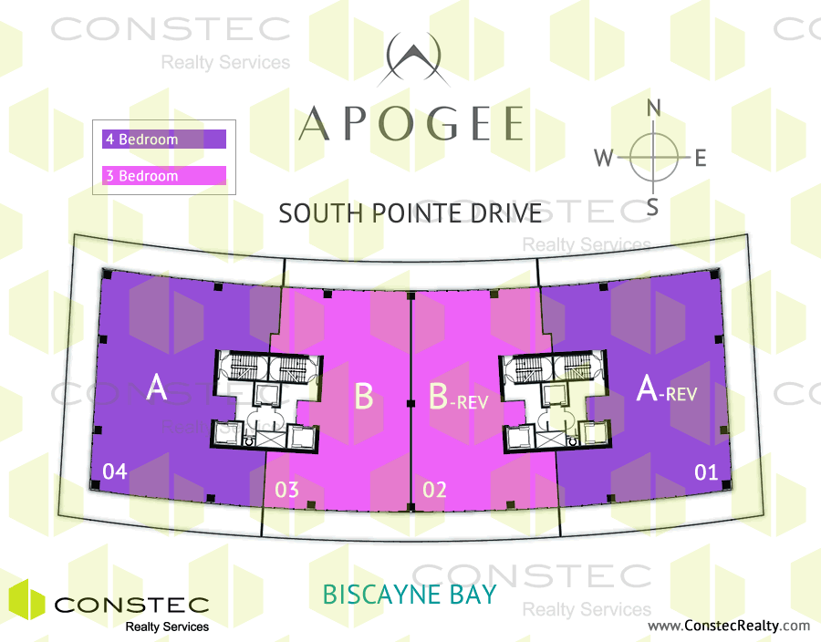 Apogee South Beach Site/Key Plan