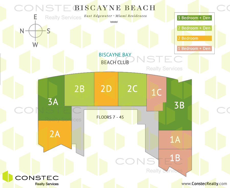 Biscayne Beach Site/Key Plan