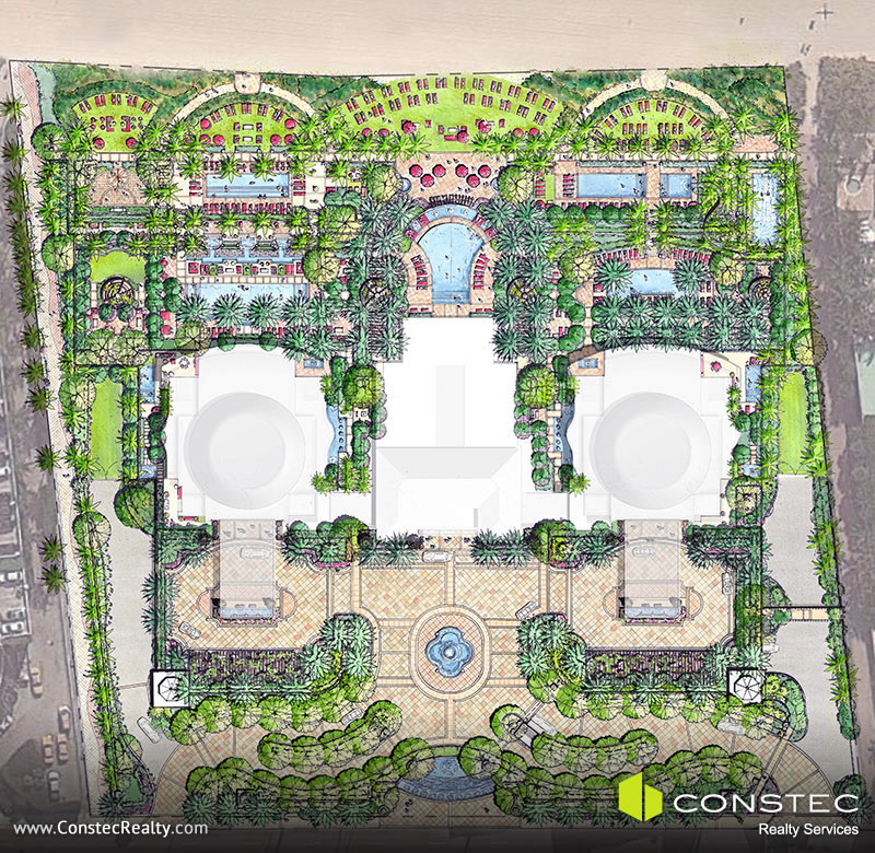 The Estates at Acqualina Site/Key Plan