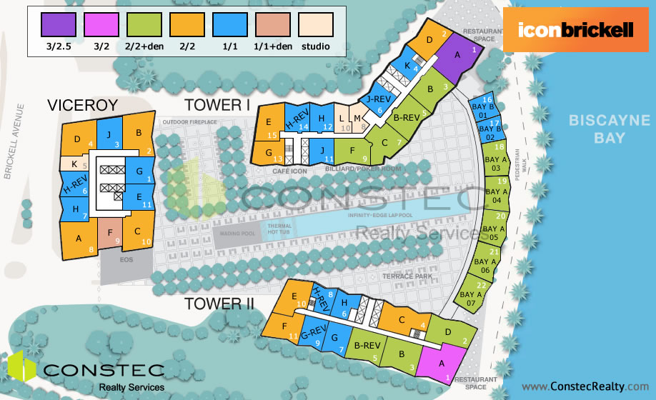 Icon Brickell Site/Key Plan