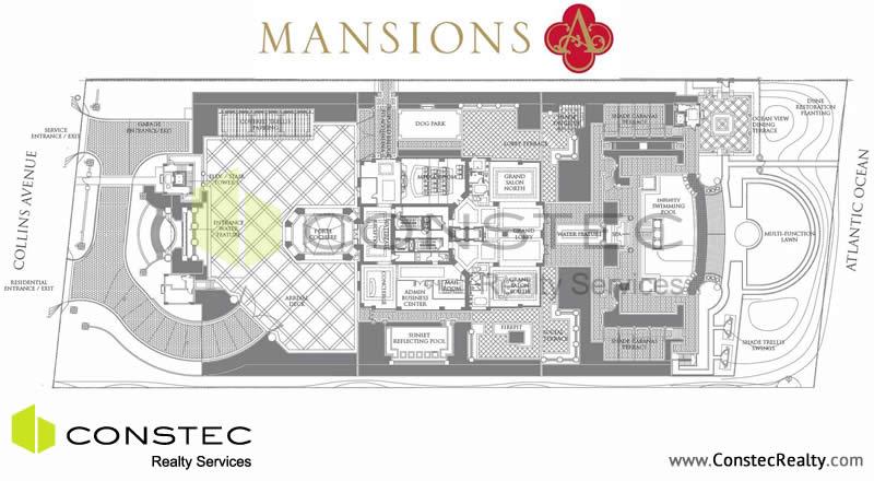 Mansions at acqualina floor plans for Miami mansion floor plans