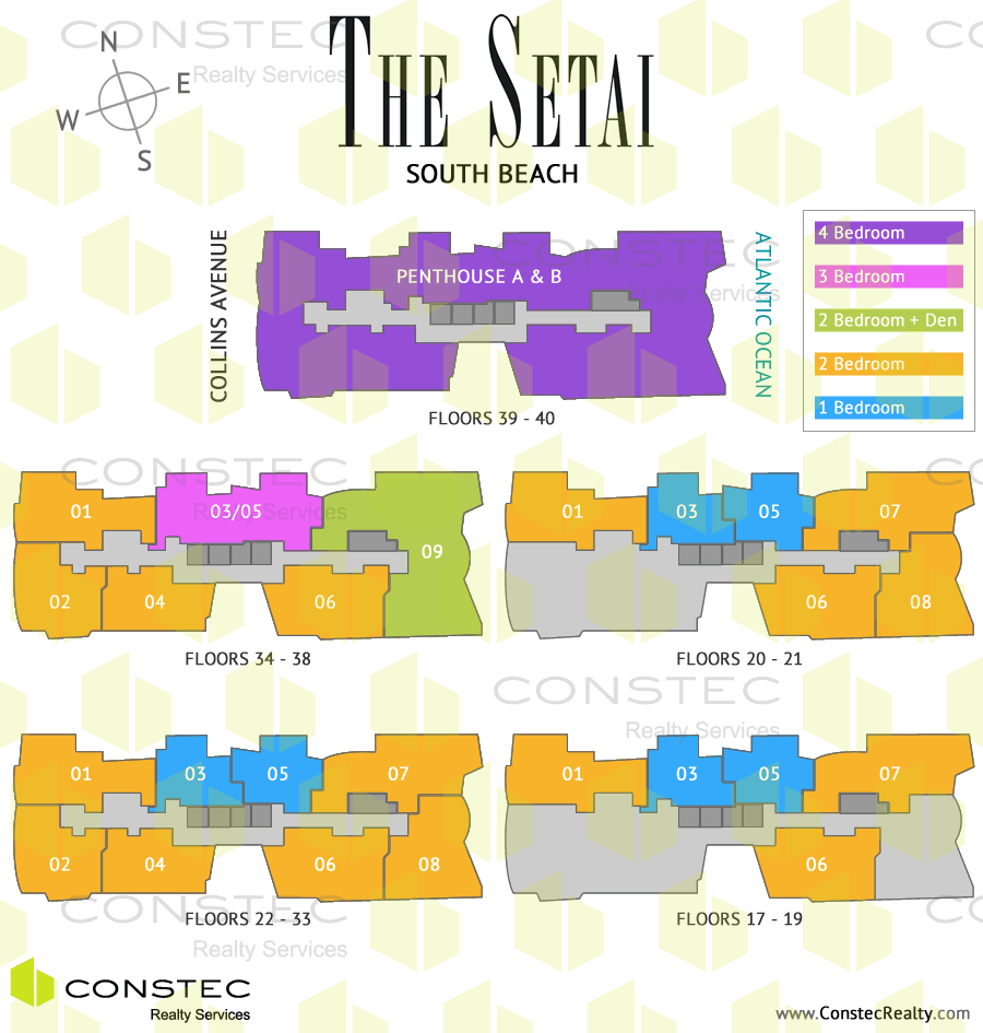 The Setai South Beach Site/Key Plan