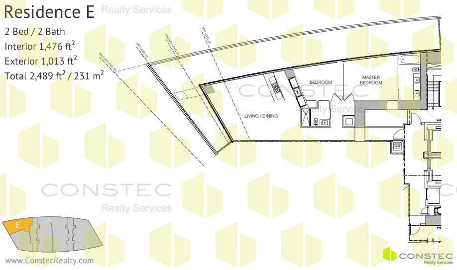 Residences By Armani Casa Site Plan With Floor Plans