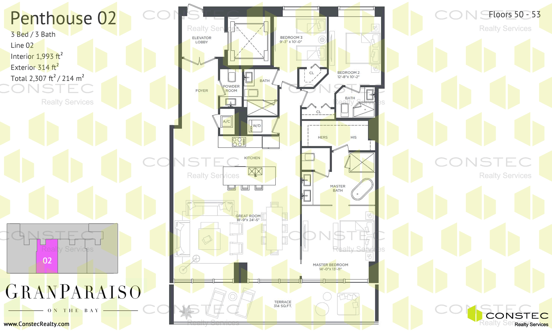 paraiso bay floor plans