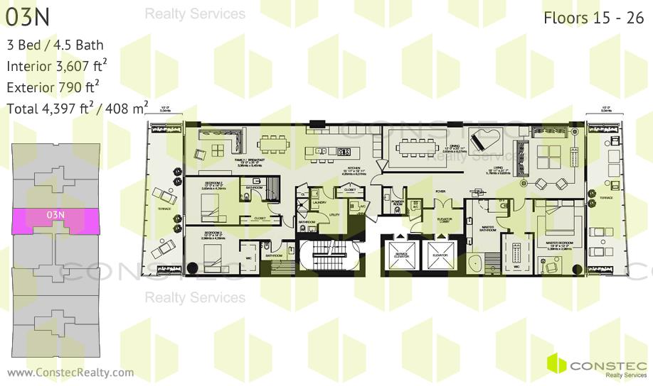 4 Bedroom 3.5 Bathroom Floor Plans
