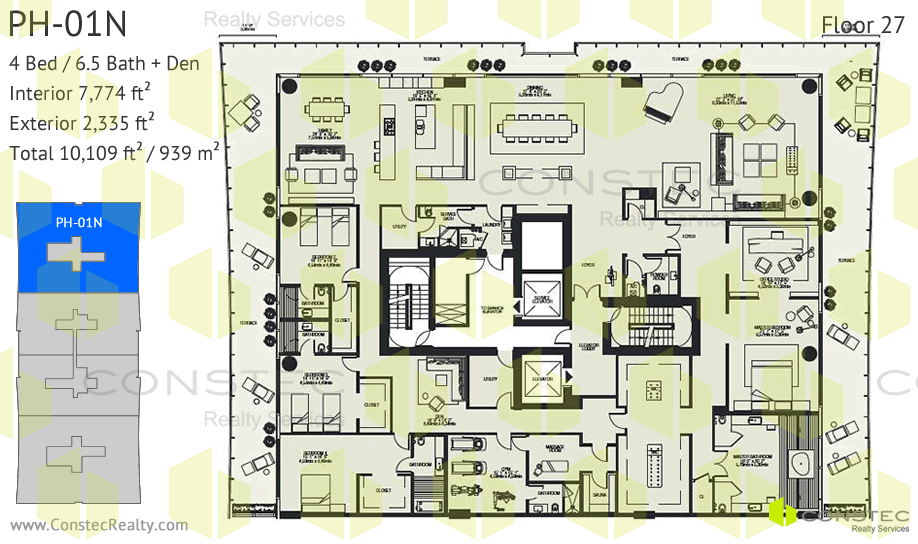 penthouses - Luxury Penthouse Floor Plans