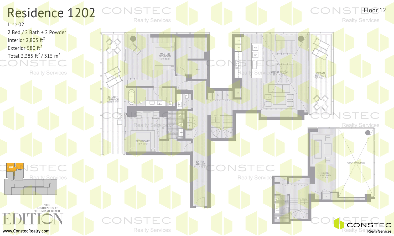 the residences at the miami beach edition floor plans