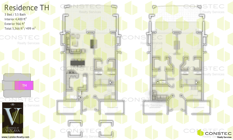 Residences At Vizcaya Floor Plans