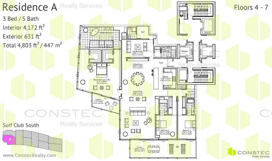 Surf Club Four Seasons Planos de Residencias – Four Seasons Housing Floor Plans