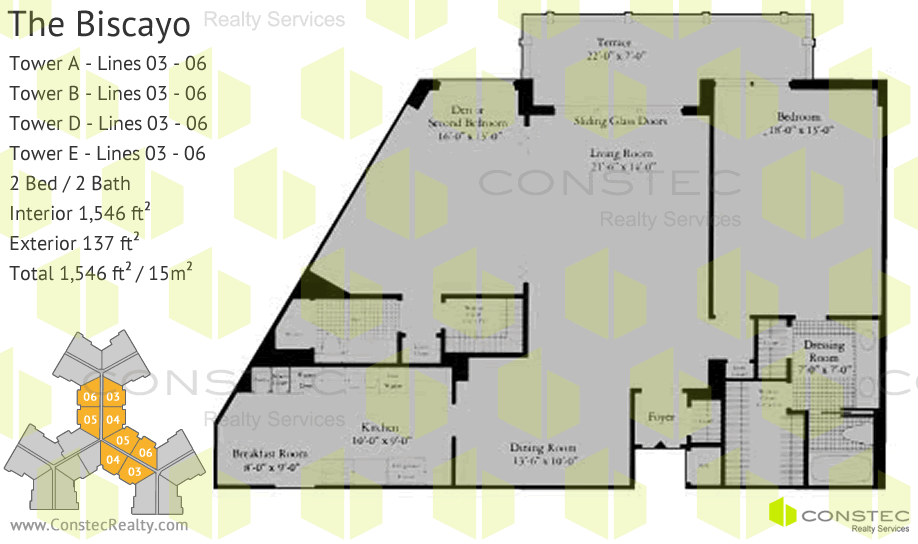 Towers Of Key Biscayne Floor Plans