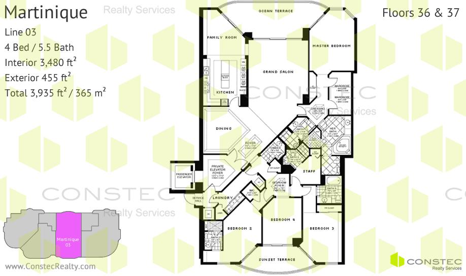 Turnberry Ocean Colony Floor Plans