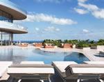 Brickell Flatiron - Sky Terrace Pool Rendering