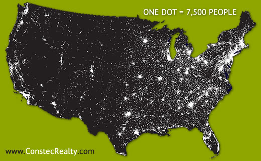 Miami Real Estate News Real Estate Opportunities In Miami Due To - Map of the us population density